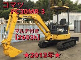 コマツ ミニ油圧ショベル(ミニユンボ) PC30MR-3 2013年