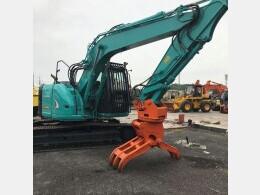 KOBELCO Excavators SK135SR-4 5本配管 回転フォーク付き                                                                         2010