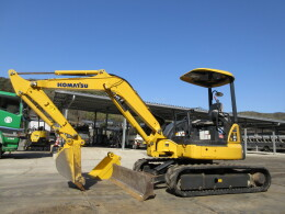 KOMATSU Mini excavators PC40MR-3 シュー左右新品 法面付き                                                                         2014